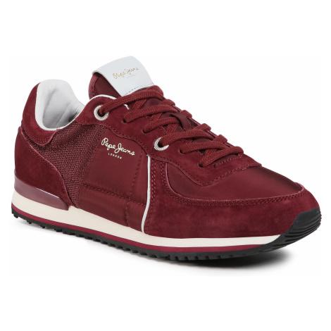 Sneakersy PEPE JEANS - Tinker City PMS30658 Bordeaux 298
