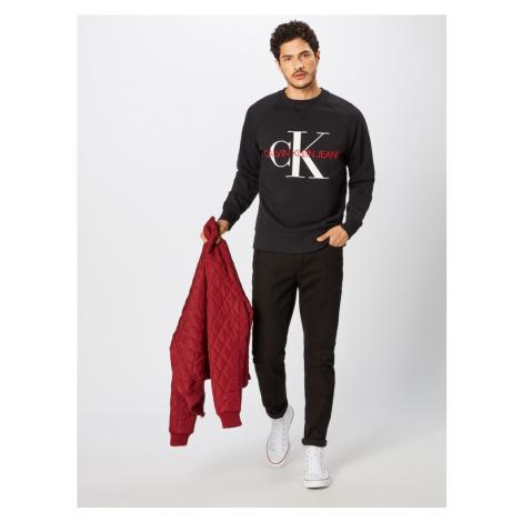 Calvin Klein Jeans Bluzka sportowa 'WASHED REG MONOGRAM CN' czerwony / czarny / biały