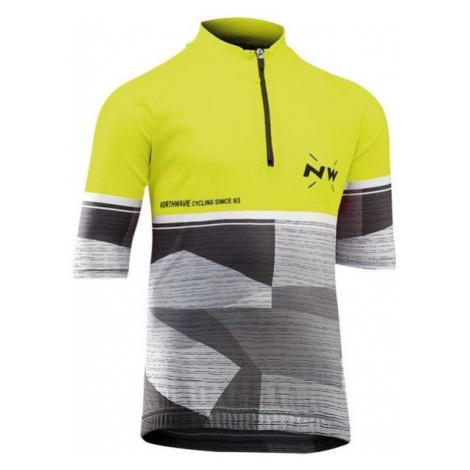 Northwave ORIGIN JR żółty 6 - Koszulka rowerowa dziecięca