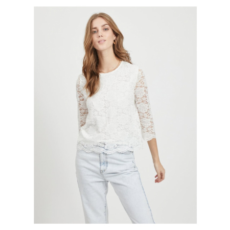 VILA Koszulka 'VICARA' biały