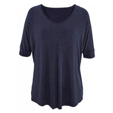 LASCANA Koszulka atramentowy / biały