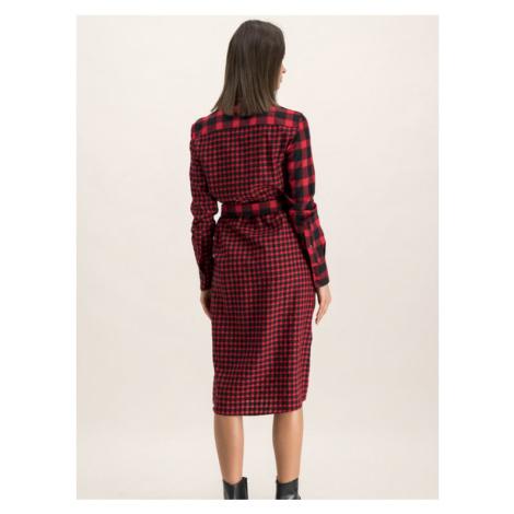 Hugo Sukienka koszulowa 50416866 Czerwony Regular Fit Hugo Boss