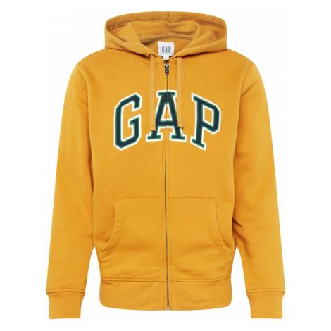 GAP Bluza rozpinana 'ARCH FZ HD' żółty / biały