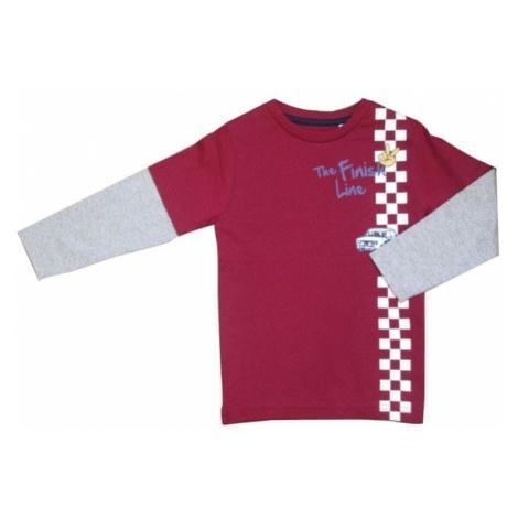 Carodel bluzka chłopięca szary/czerwony
