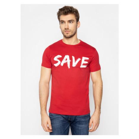 Save The Duck T-Shirt DT401M JESYX Czerwony Regular Fit