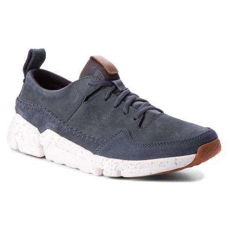 Sneakersy CLARKS - Triactive Run 261322757 Blue Nubuck