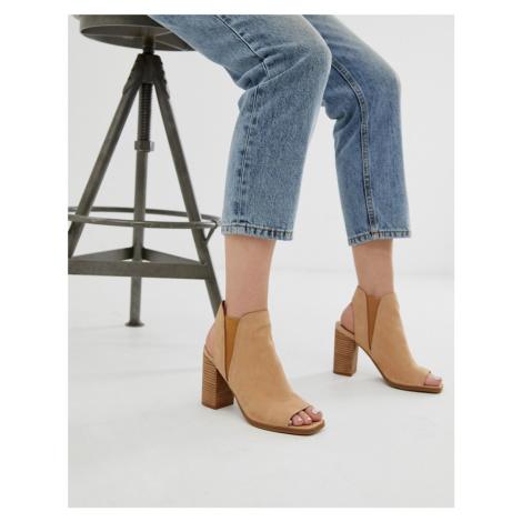 ALDO Selalla peep toe block heeled sandal in beige