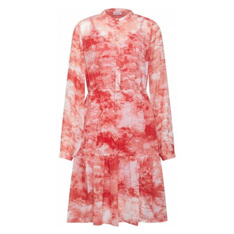 VILA Sukienka koszulowa 'VITIEDYE' czerwony / biały