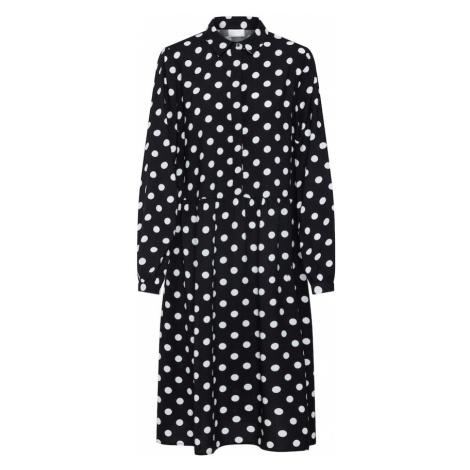 VILA Sukienka koszulowa 'Vidotla' czarny / biały