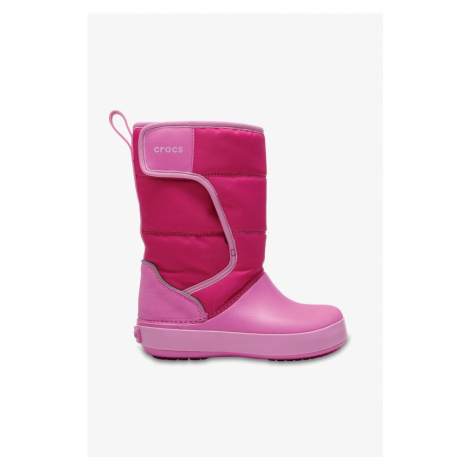 Śniegowce Crocs Lodge Point Snow Boot K 204660-6Lr Candy Pink/party Pink
