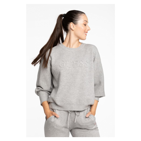 Bluza Guess Embossed Logo Rn Sweater O94R00Z26I0-H905 Grey