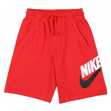 Nike Sportswear Spodnie 'B NSW CLUB + HBR SHORT FT' czerwony