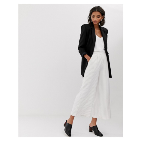 Y.A.S Liva pinstripe wide leg co-ord trousers