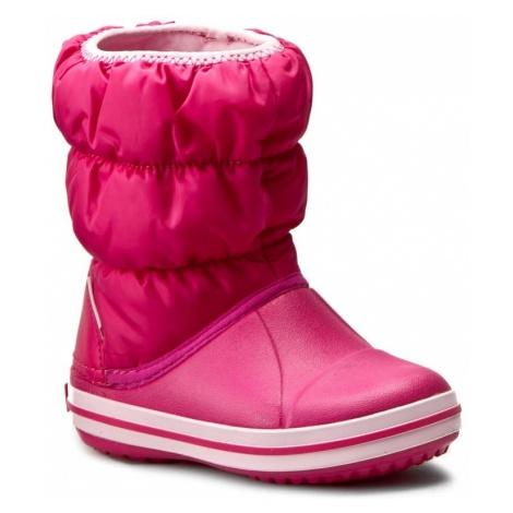 Śniegowce CROCS - Winter Puff Boot Kids 14613 Candy Pink