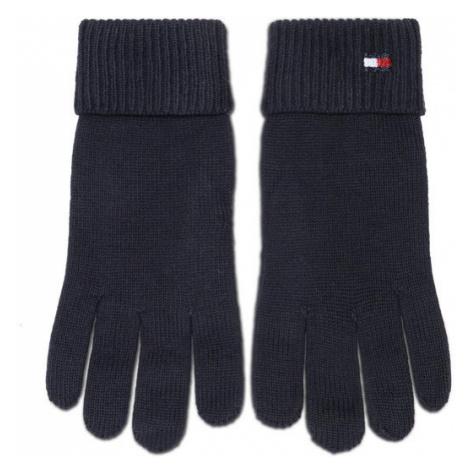 TOMMY HILFIGER Rękawiczki Damskie Essential Knit Gloves AW0AW09027 Granatowy