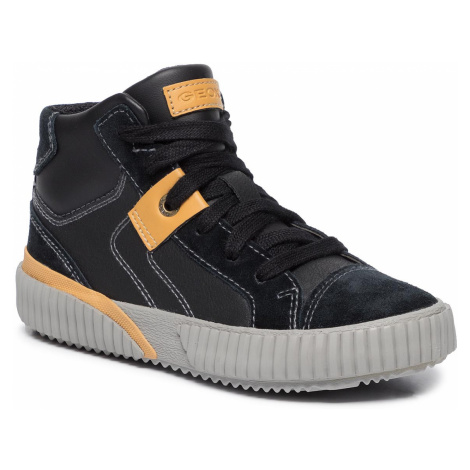 Sneakersy GEOX - J Alonisso B. D J942CD 05422 C9241 S Black/Dk Yellow