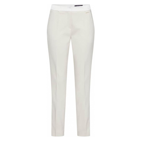 COMMA Spodnie beżowy / biały