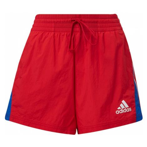 ADIDAS PERFORMANCE Spodnie sportowe czerwony / królewski błękit / biały