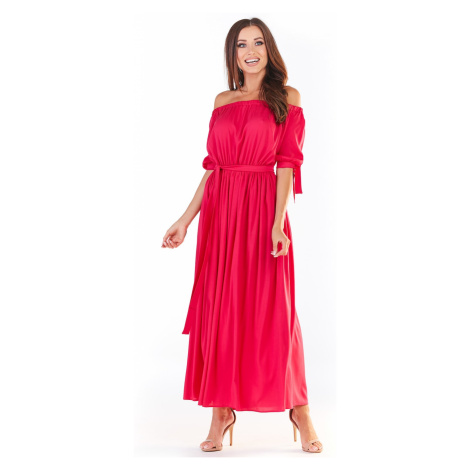 Awama Woman's Dress A357 Fuchsia