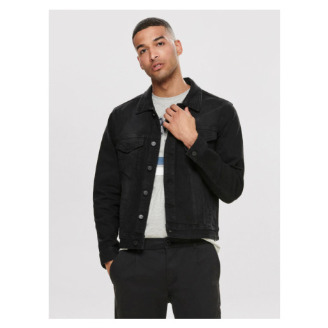 ONLY & SONS Kurtka jeansowa Coin 22010453 Czarny Regular Fit