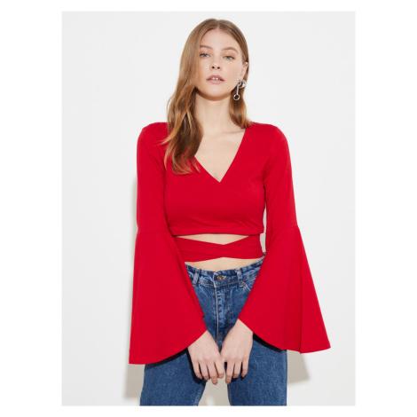 Trendyol czerwony bluzka
