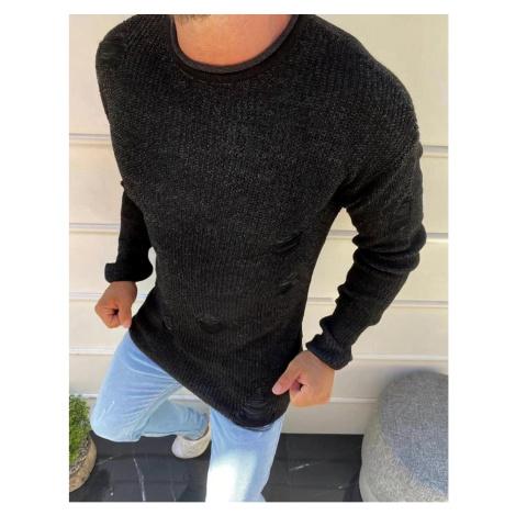 Czarny sweter męski WX1582 DStreet