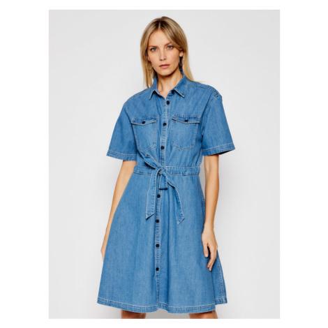 Tommy Jeans Sukienka jeansowa DW0DW10215 Niebieski Regular Fit Tommy Hilfiger