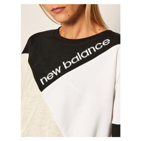 New Balance Bluza Nb Village Crew NBWT0350 Czarny Oversize