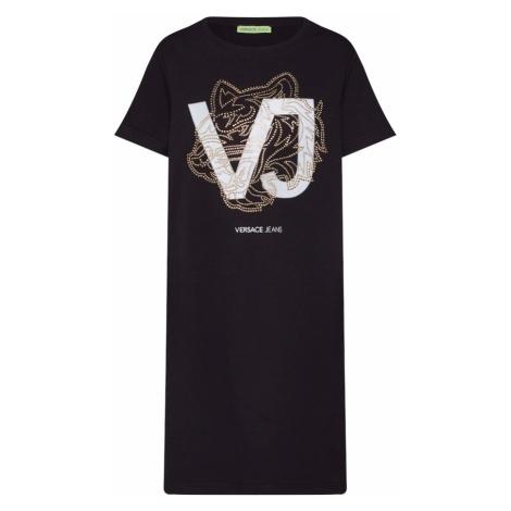 Versace Jeans Sukienka 'TDP900 Bis Studs8' złoty / czarny / biały