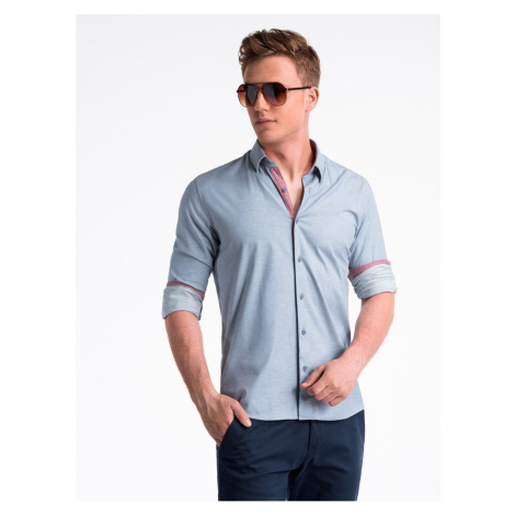 Ombre Clothing Men's shirt with long sleeves K487
