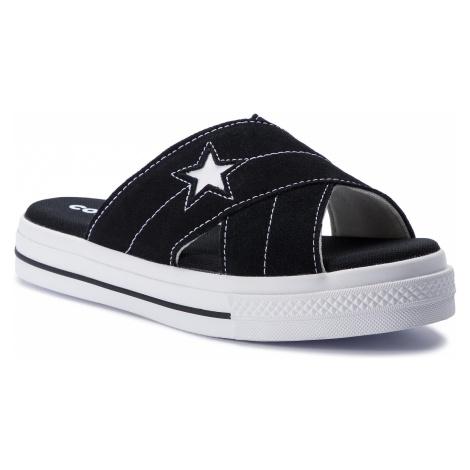 Klapki CONVERSE - One Star Sandal Slip 564143C Black/Egret/White