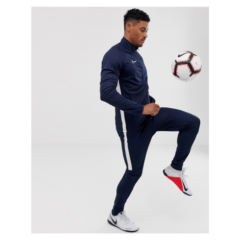 Nike Football academy tracksuit in navy