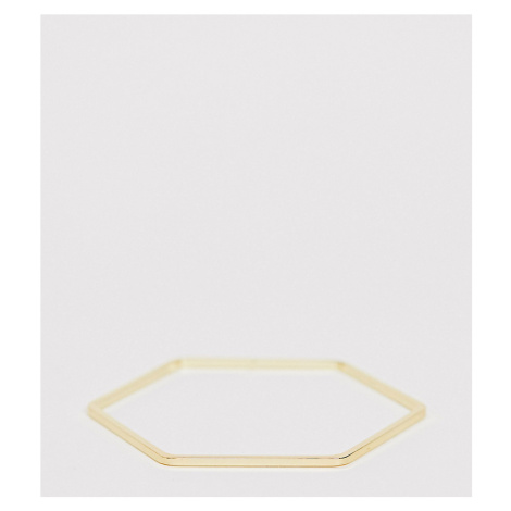 Orelia gold plated hexagon cuff bracelet