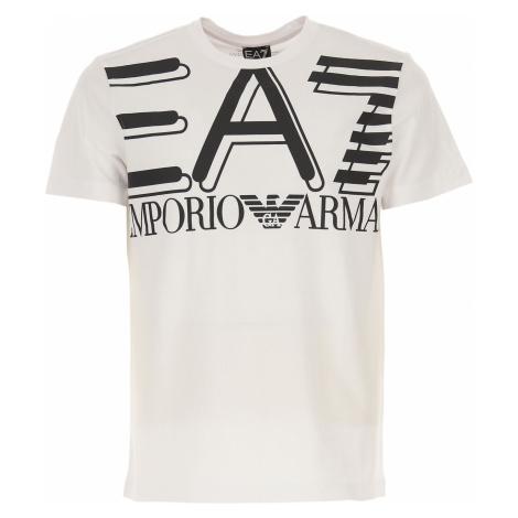 Emporio Armani Koszulka dla Mężczyzn Na Wyprzedaży, biały, Bawełna, 2019