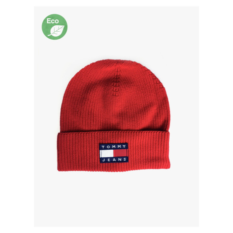 """Tommy Jeans """"Heritage Beanie"""" Red Tommy Hilfiger"""