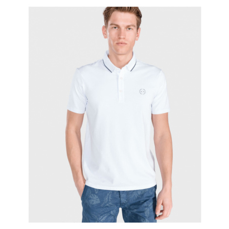 Armani Exchange Polo Koszulka Biały