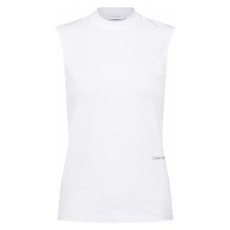 Calvin Klein Top 'PIMA STRETCH MOCK-NK' biały