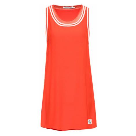 Calvin Klein Jeans Sukienka letnia Double Layer A-Line J20J213646 Czerwony A Line Fit