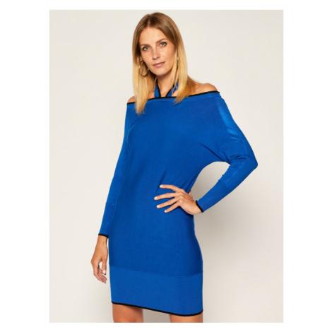 Guess Sukienka dzianinowa Simona W0YK65 Z2NQ0 Niebieski Regular Fit