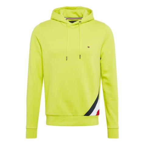 TOMMY HILFIGER Bluzka sportowa niebieska noc / karminowo-czerwony / neonowo-żółty / biały