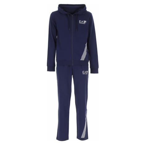 Emporio Armani Męska Odzież Sportowa na Siłownie lub do Biegania, niebieski (Blue Navy), Bawełna