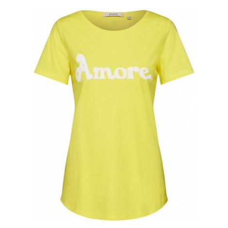 GARCIA Koszulka żółty / biały Garcia Jeans