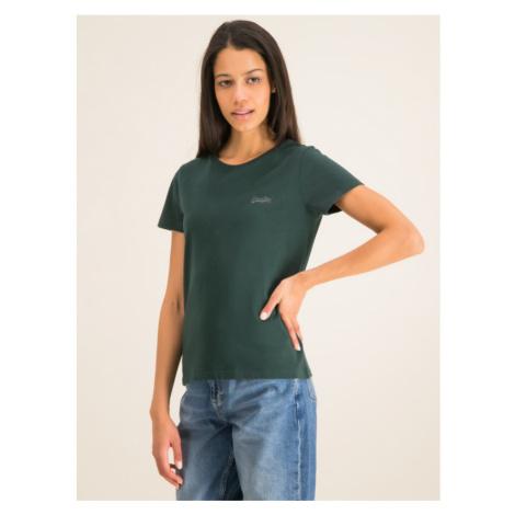 Superdry T-Shirt Elite W6000017A Zielony Regular Fit