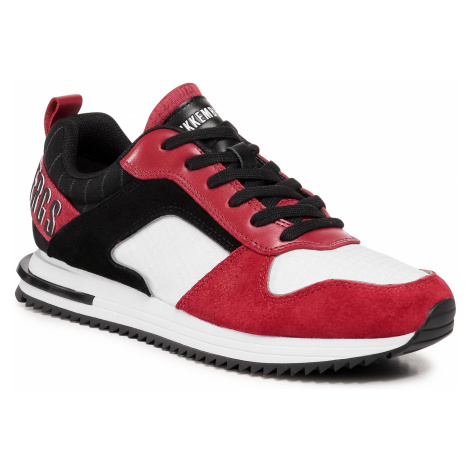 Sneakersy BIKKEMBERGS - Low Top Lace Up B4BKM0115 White/Chili Pepper/B