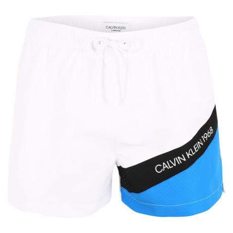 Calvin Klein Szorty kąpielowe niebieski / czarny / offwhite