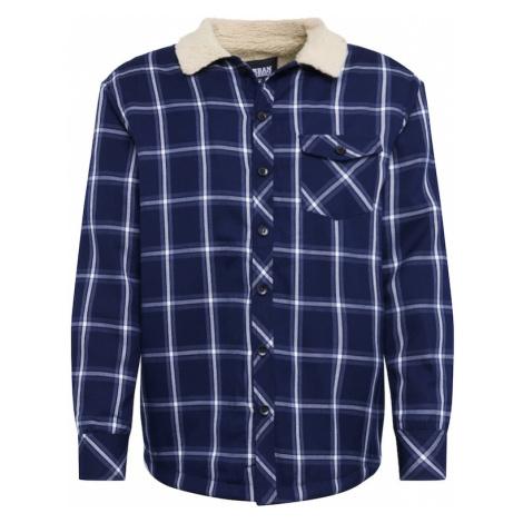 Urban Classics Kurtka przejściowa 'Sherpa Lined Shirt Jacket' granatowy / biały