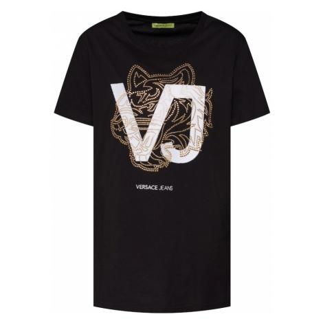 Versace Jeans Koszulka 'TDP603 STUDS8' złoty / czarny / biały