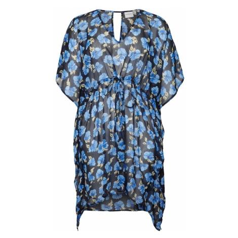 Junarose Letnia sukienka beżowy / niebieski / niebieska noc