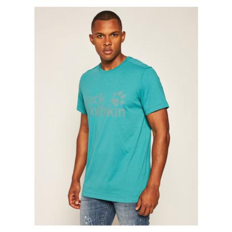 Jack Wolfskin T-Shirt Brand Logo T 1807261 Zielony Regular Fit