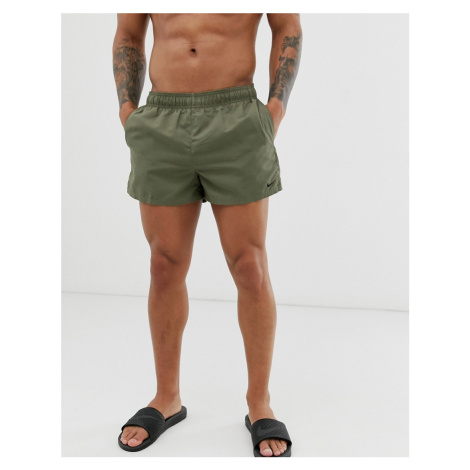 Nike Swim super short swim shorts in khaki